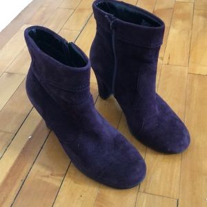 Aerosoles Deep Purple Zip Up Booties